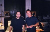 "Mark and Bill Bottrell recording the Grammy-winning album: ""I Am Shelby Lynne"""