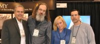 Mark with David Helfant, Andrew Scheps, and Nan Schwartz at NAMM